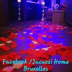 Décoration pour le thème romantique avec la location du jacuzzi de chez jacuzzi home bruxelles